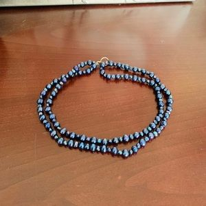 Jewelry - Authentic Blue Baroque Pearl Necklace